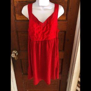 Marilyn Monroe Red Dress Small Polka Black